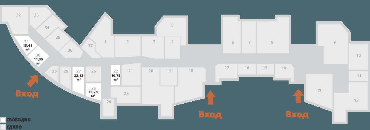 Карта ТЦ - аренда