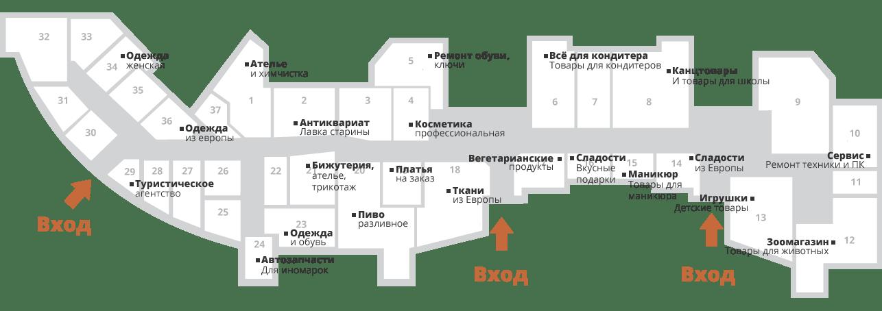 Магазины в нашем ТЦ Гатчина